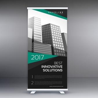Moderno design do banner roll-up para a apresentação do negócio