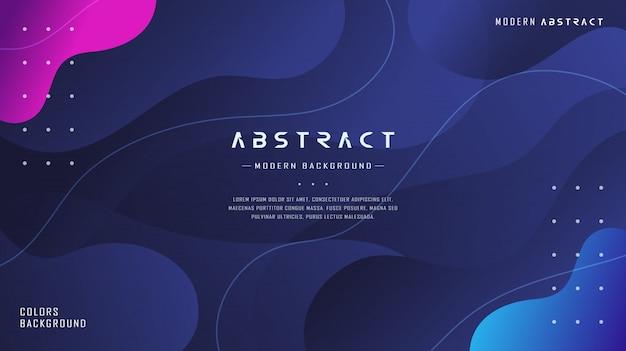 Moderno dinâmico azul marinho gradiente líquido abstrato texturizado
