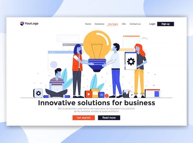 Moderno do modelo de site - soluções inovadoras