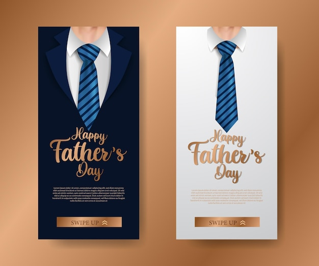 Moderno e elegante luxo nas mídias sociais banner convite para o dia dos pais
