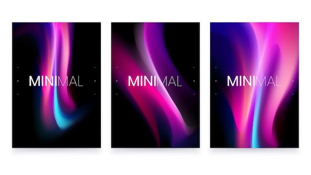 Moderno e minimalista fluido turvo gradiente preto a4 design de pôster