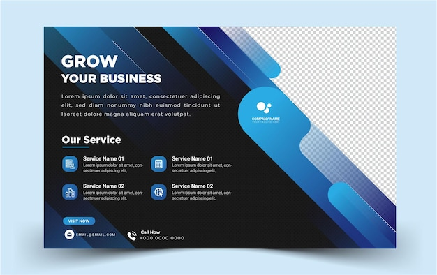 Moderno elegante paisagem mídia social banner business banner vector template