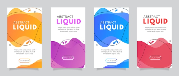 Moderno fluido móvel para banners de venda em flash.