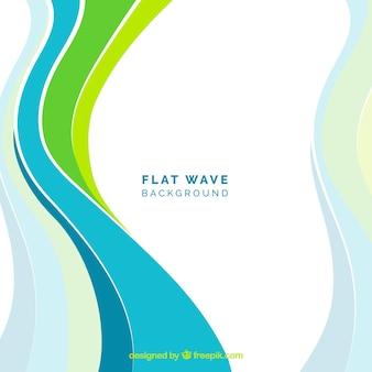 Moderno fundo de ondas coloridas