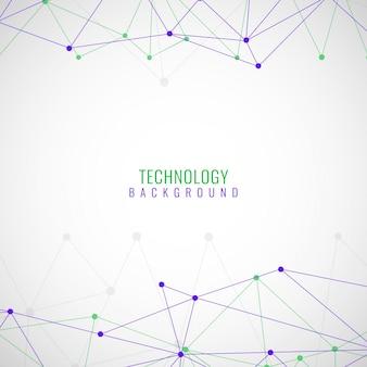 Moderno fundo tecnológico colorido