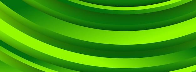 Moderno fundo verde geométrico com formas abstratas de círculos. design de banner. padrão dinâmico futurista. ilustração vetorial