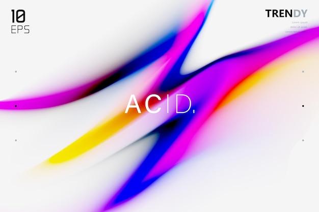 Moderno gradiente de fluido colorido em design de fundo preto