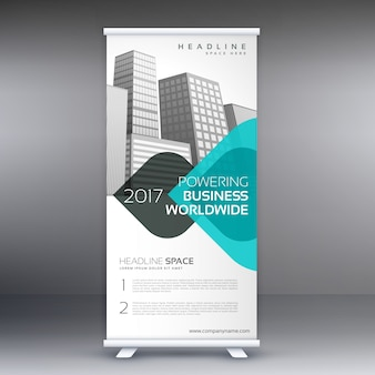 Moderno moderno standee roll up template de design de banner
