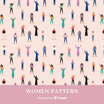 Moderno padrão de grupo internacional de mulheres