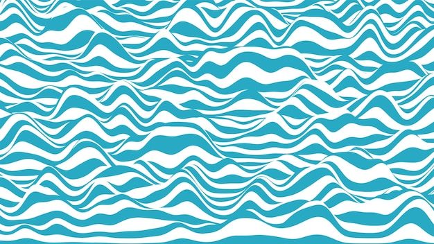Moderno pano de fundo distorcido com listras 3d azuis e brancas
