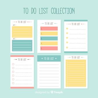 Moderno para fazer a lista de coleção com estilo colorido