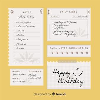 Moderno para fazer a lista de coleta com papel de caderno