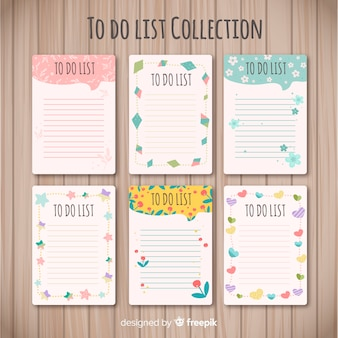 Moderno para fazer coleção de lista com estilo encantador