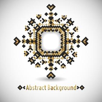 Moderno projeto geométrico preto e dourado tribal do pixel ilustração vetorial