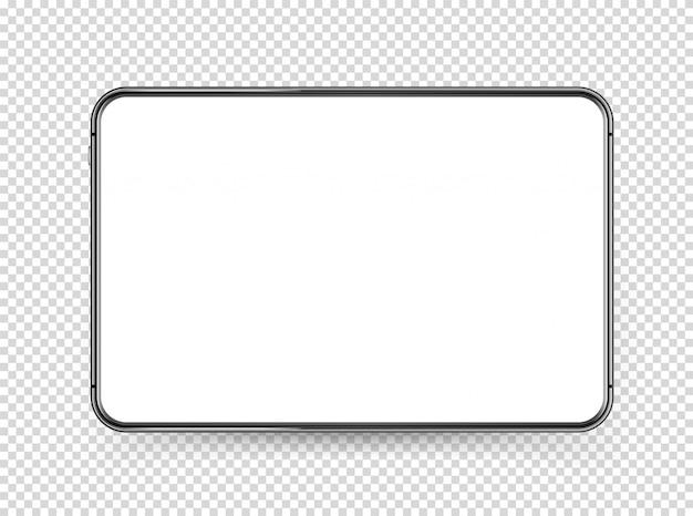 Moderno tablet pc com tela branca em branco