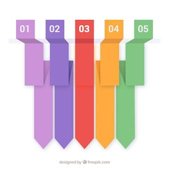 Modernos banners para opções de web design. template.