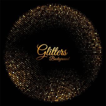 Modernos brilhos dourados brilhantes