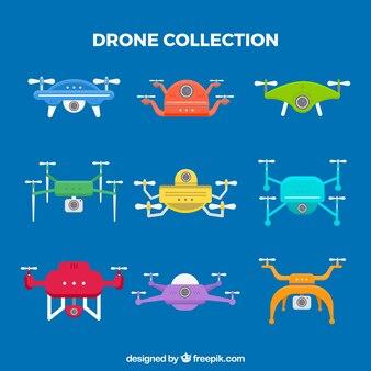 Modernos drones com estilo divertido