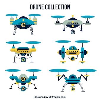 Modernos drones com estilo elegante