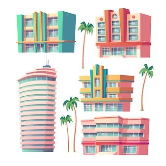 Modernos hotéis e edifícios de escritórios