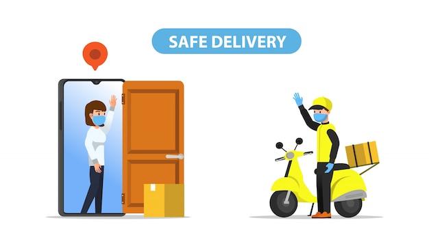 Modo de entrega segura usando aplicativo móvel