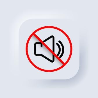 Modo silencioso de smartphone. vetor. desligue o volume ou sinal de modo mudo para smartphone. sinal dinâmico. um símbolo de paz e tranquilidade, uma chamada para desligar os aparelhos. ícone do alto-falante.