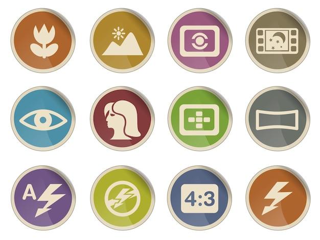 Modos de ícones de silhueta fotográfica