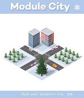 Módulos do trimestre urbano de natal de inverno