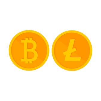 Moeda criptografada é um centavo de ouro sobre branco