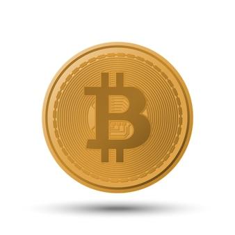 Moeda de criptomoeda bitcoin
