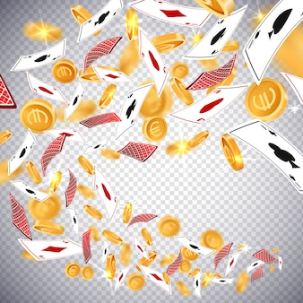 Moedas de ouro do dólar 3d