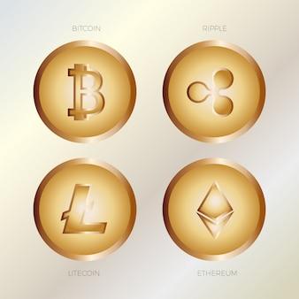 Moedas de ouro virtuais para negócios
