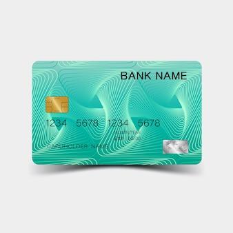 Molde 3d do cartão de crédito ilustração colorida do projeto do vetor editável eps10