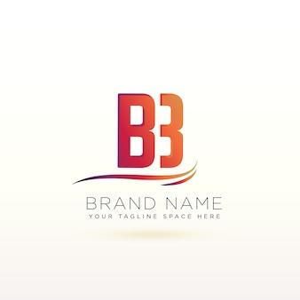 Molde bonito do projeto do logotipo da letra b