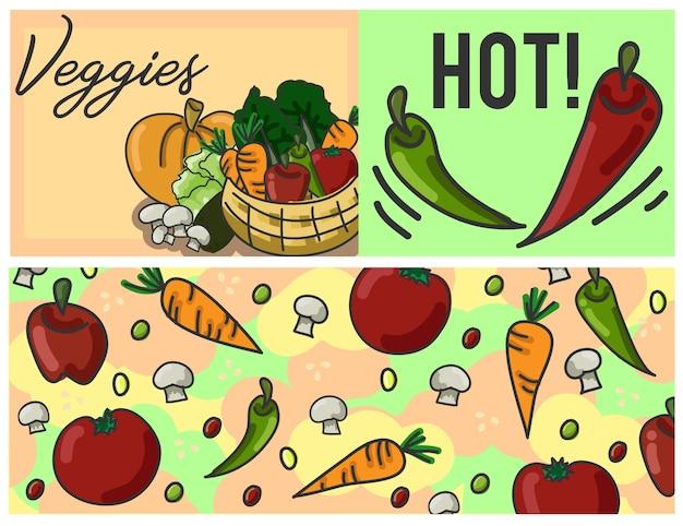 Molde colorido dos vegetarianos