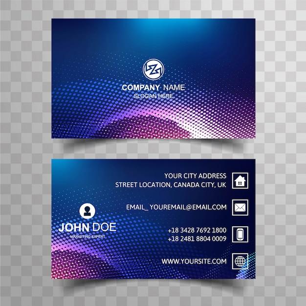 Molde colorido moderno brilhante do cartão do negócio com pontilhado