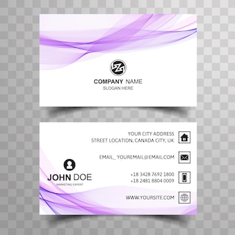 Molde criativo criativo criativo do cartão de negócio da onda