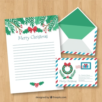 Molde da carta do feliz natal