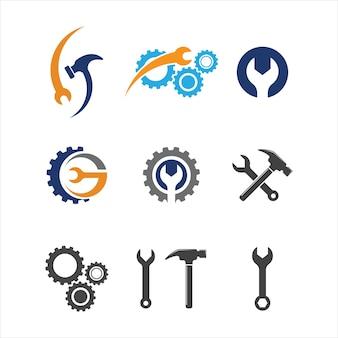 Molde da ilustração do ícone do vetor da ferramenta