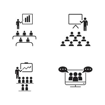 Molde da ilustração do projeto do ícone do vetor de treinamento
