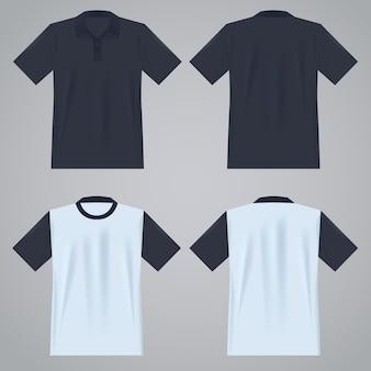Molde de camiseta de manga curta