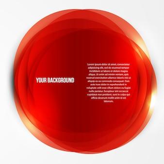 Molde de círculos abstratos do vetor. web de objetos