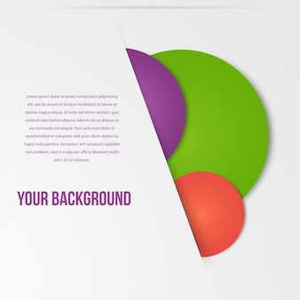 Molde de círculos de infografia de vetores. desenhar