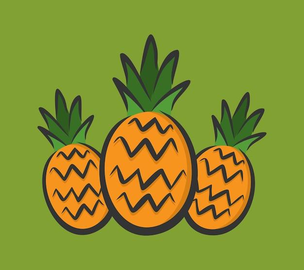 Molde de design de ilustração de abacaxi