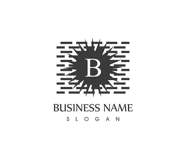 Molde de design do logo brickwall