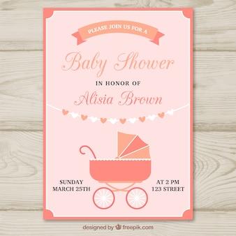 Molde de festa para bebês com buggy