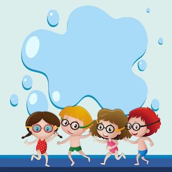 Molde de fundo com os nadadores
