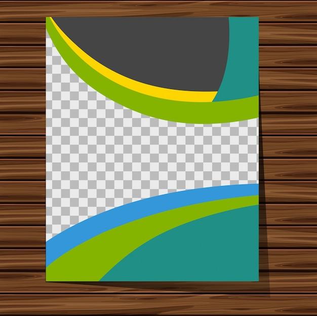 Molde de fundo com padrão azul e verde