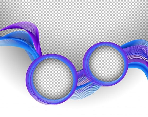 Molde de fundo com padrões roxos e azuis