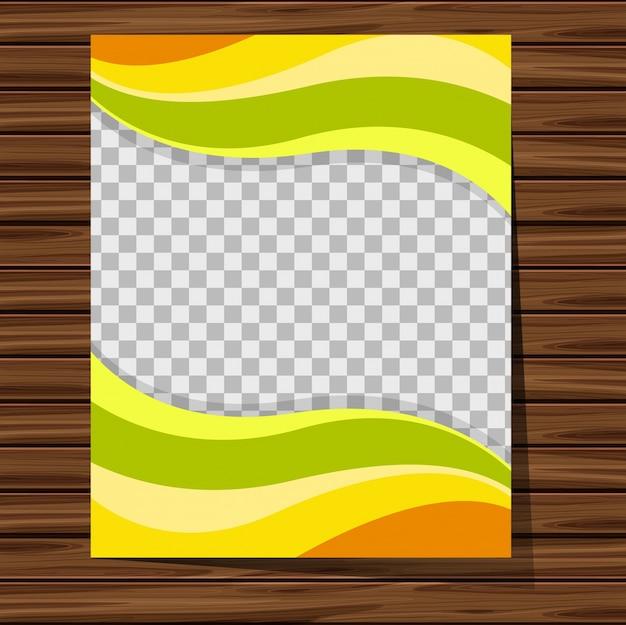 Molde de fundo com padrões verdes e amarelos